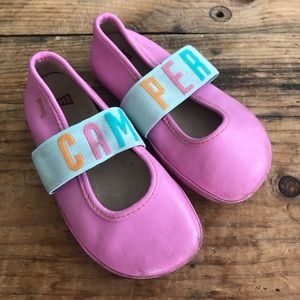"""CAMPER 25 """"Right"""" Pink Flats Shoes"""